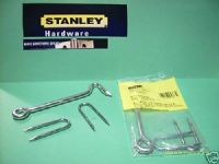 "STANLEY Hook & staples HEAVY DUTY 6"" Zinc Plated. 1 pack with screws.27-9703"